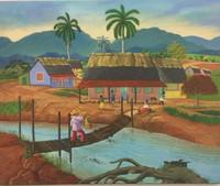 """043 Keyner, """"La llegada de Jacinto,"""" 2010. Oil on canvas. 17"""" x 21.5"""""""