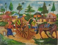 "047 Felipe Reyes, untitled, 1998. Oil on canvas. 11"" x 14"""