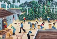 "057 Osmar Peña, ""El secadero de café,"" 2014. Oil on canvas. 13.5""x 19"" #6160"