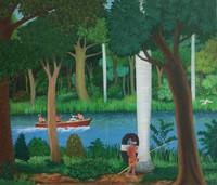 """058 Rolando Alvarado, Untitled, 2008. Oil on canvas. 17""""x 20.25"""" #4301 SOLD"""