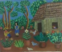 """086 El Yeti, Untitled, ND. Oil on canvas. 12"""" x 14"""" #4179"""