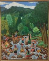 """112 Rolando Alvarado, Untitled, 2007. Oil on canvas. 19"""" x 15.5"""" #4790 SOLD"""