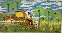 "114 Richar Bruff Bruff, ""Concha la cocotero,"" 2007. Acrylic on canvas. 8.5""x 16.5"". #4308B"