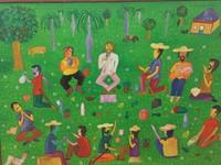 "115 Pelly (Pedro Blanco Arocha), La ultima cena, 1996. Oil on canvas. 21.5""x 29.5"" #1064"