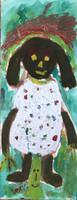 "162 Wayacón, Untitled, ND. Acrylic on paper. 19.25""x 23.5""  #5684"