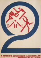 """Unsigned, """"ll Jugos Juveniles Nacionales"""", 1972. Silk screen, 29"""" x 19""""."""