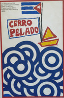 "Raul Olivia ""Cerro Pelado,"" 1966. Silk screen, 30"" X 20"""