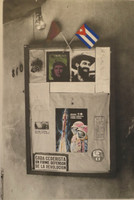 """Raul Martinez, """"Untitled,"""" 1981. CDR series, silver gelatin print, colored ink, pencil."""