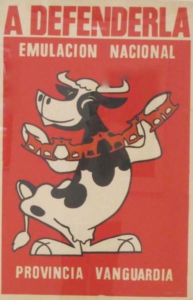 """Unsigned, """"Emulación Nacional Provincia Vanguardia,"""" ND. Silkscreen, 30"""" X 20."""""""