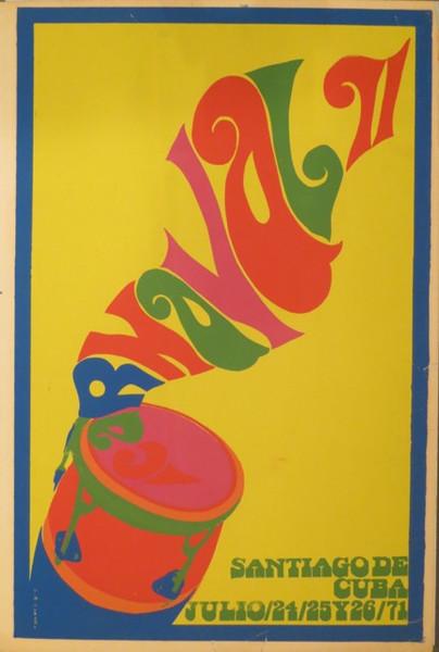 """Unsigned, """"Carnaval II"""", 1971. Silk screen,  30.5"""" x 21."""""""