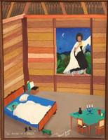 """Roberto Torres Lameda #4160. """"El marido de la bruja,"""" 2005. Oil on canvas. 16.5 x 12.5 Inches. SOLD!"""
