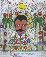 """Zuñiga (Lawrence Zuñiga Batista) #5692. """"Marti el apostol de Cuba,"""" 2012. Acrylic on paper, 18.5 x 15.5 Inches."""