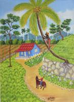 "Osmar Peña Clavel #5675. Untitled, 2012. Oil on canvas. 8.5"" x 7."""