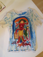 Wayacón (Julián Espinosa) #1.   Untitled, N.D. Acrylic on cotton tee shirt.