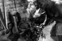 """Roberto Chile, """"De la serie Humo ritual,"""" 2016. Digital prin, 21 x 29 inches"""