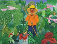 """El Estudiante (Luis Rodriguez Ricardo) #5703. """"Llamador de pájaros,"""" 2012. Oil on canvas. 9 x 12 Inches. SOLD!"""