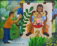 """El Estudiante (Luis Rodriguez Ricardo) #5711. """"Foto a los trillisos, """" 2012. Oil on canvas,. 7 x 9 inches. SOLD!"""