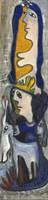 "Fuster (José Rodríguez Fuster) #4554. ""Pensamiento de mujer,"" 2008. Oil on canvas. 65 x 16.5 Inches. SOLD!"