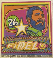 "Raúl Martínez #102. ""Fidel,"" 1968. Silkscreen print. 21.5 x 19 1/ 4 inches. SOLD!"