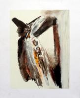 "Lescay (Alberto Lescay Merencio) #6250. ""Pajaro,"" N.D. Serigraph print. 16.5 x 13 inches."