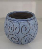 Alejandro Lopez Bastida #6561  Ceramic vase from Trinidad de Cuba. 4.5 x 5 inches.