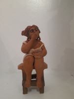 Martha Jimenez #8090 Untitled, ND. Clay sculpture from Camaguey, Cuba. 7 x 4 X 3 inches. SOLD!