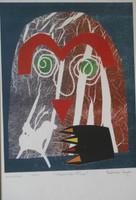 "Nestor Vega #1960 ""Mariposa-flor,"" 1999. Monotype print. 14 x 11 inches."