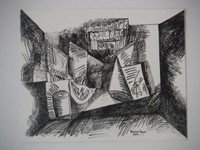 Nestor Vega #2760BX.  Untitled, 2001. Ink on paper. 9.5 x 11.5 inches.