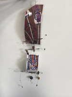 Osvaldo Castilla. #6607   Untitled (kite mobile), 2014. Mixed media. 34 x 9 inches.