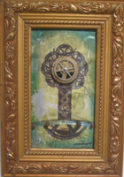 "Dagoberto Driggs Dumois #8091 (SL)   Untitled, ND. Mixed media, Framed, 11"" x 7.5 inches. SOLD!"
