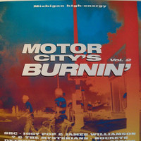 MOTOR CITY IS BURNING  VOL 2 - 1970-98  LAST COPIES (W Detroit, Iggy, ? and the Mysterians and more)Comp LP