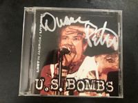 U.S.BOMBS - Lost in America - AUTOGRAPHED BY DUANE PETERS! CD
