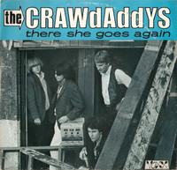 CRAWDADDYS, THE - There She Goes AGain  (60s style mod garage)LAST FEW! PIC SLV- 45 RPM