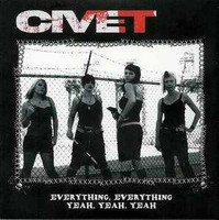 CIVET - Everything, Everything -HOT PINK VINYL- 70s style Punk girls! , 2005 pressing45 RPM