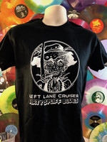 LEFT LANE CRUISER - Dirty Spliff Blues- design by BILL STOUT!   BLACK T SHIRT