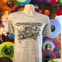 GOSPELBEACH  - PACIFIC SURF LINE -GREY MARBLE T SHIRT with  BILL STOUT DESIGN - LAST ONES! Tshirts