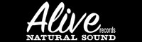 ALIVE  - Black with  white logo -  BUMPER STICKERS