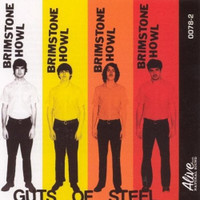 BRIMSTONE HOWL- Guts Of Steel  LAST COPIES! (60's influenced garage produced by DAN OF THE BLACK KEYS!) ORANGE LP