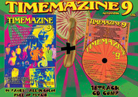 TIMEMAZINE #9  PLUS CD  (GREAT FULL COLOR PSYCH ZINE)