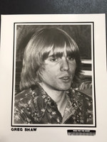 GREG SHAW - WHO PUT THE BOMP -PROMO PHOTO 70'S