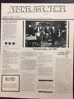 STONE AGE NEWS  - 1985 VOXX NEWSLETTER ORIGINAL XEROX.