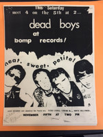 DEAD BOYS   - 1980 FLIER FROM BOMP STORE  XEROX.