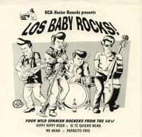 LOS BABY ROCKS  - 4 WILD SPANISH ROCKERS from the 50's ! 45 RPM