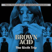 BROWN ACID  - THE SIXTH TRIP -HEAVY ROCK FROM THE UNDERGROUND COMEDOWN- BLUE VINYL COMP LP
