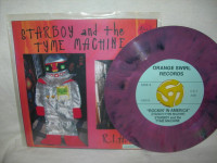 STARBOY AND THE TYME MACHINE   R.I.A  (Former BOMP artist-pink marble)   45 RPM