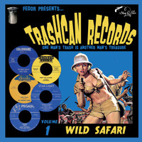 "TRASH CAN RECORDS  #1 WILD SAFARI(obscure and forgotten vinyl 50s and 60s) 10""  COMP"