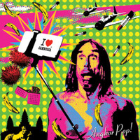 ANGKOR POP   - VA CAMBODIAN TRIBUTE TO IGGY POP -  COMP LP