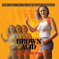 BROWN ACID  -THE  EIGHTH  TRIP (HEAVY ROCK FROM THE UNDERGROUND COMEDOWN)  ORANGE VINYL COMP LP