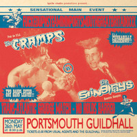 CRAMPS/STING-RAYS   - FUCKEDUPNSTEAMININPORTSMOUTHGREATBRITAINXXX- Live 1986-  LP