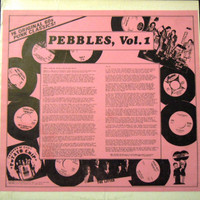 PEBBLES   - Vol . 1  WITH  PINK INSERT COVER  -COMP LP